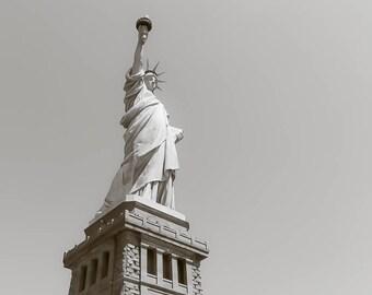 Photo of Statue of Liberty, Ellis Island, New York City Print