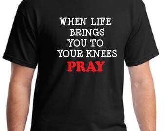 Christian t-shirt-god t-shirt-Jesus t-shirt-pray t-shirt-Christmas gift t-shirt-gift men's t-shirt-church tee-evangelizing t-shirt