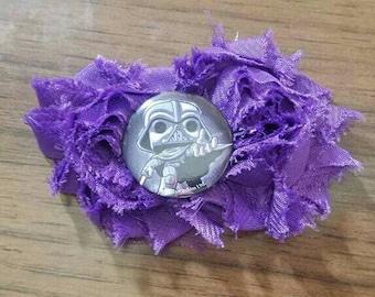 Dark Vader Shabby Flower Hair Clip