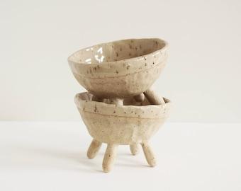 Footed Bowl | Handmade ceramic dish, Pottery, Simple servingware, Stoneware, Tableware, Dinnerware, Bowl with legs