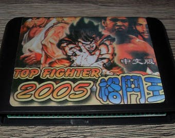 Game Megadrive Mega Drive Genesis: Top Fighters 2005 customized