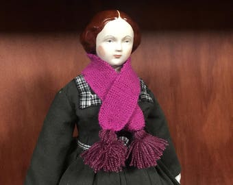 Reproduction 1860's Style scarf in Pink Doll size