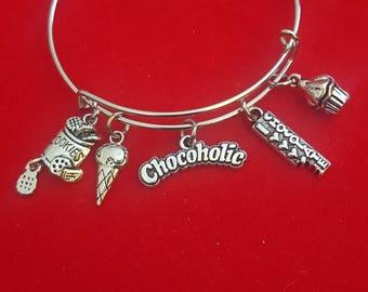 Chocoholic Themed Charm Bracelet