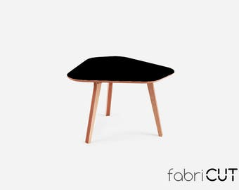 Kitchen table MOCA BLACK, dining table, wood table, round table, office table, caffee table,