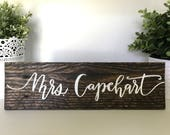 Wood | Hand painted | Custom | Personalized | Desk | Office | Name Tag | Teacher name sign | Classroom sign