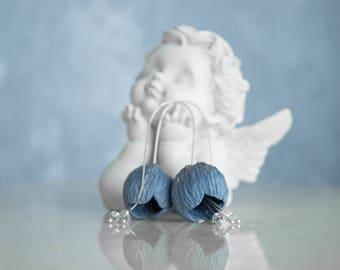 blue earrings, blue jewelry, simple earrings, minimal earrings, beads earrings, long earrings, personalized gift, dangle earrings