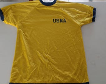 United States Naval Academy Annapolis vintage reversible jersey large