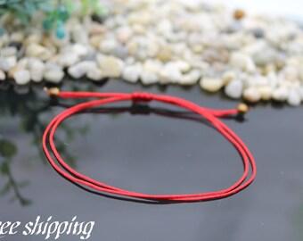 red string bracelet, kabbalah red string bracelet, Red string kabbalah, red string of fate, simple red string, red adjustable cord bracelet