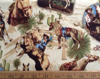 43 inches of Roy Rogers and Trigger cotton fabric