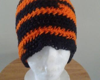 Black and orange hat