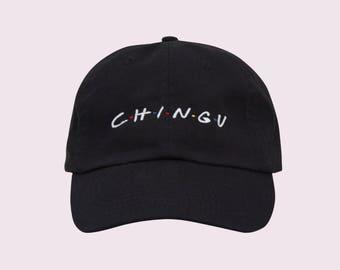 Kpop Clothing, Kpop, BTS, Chingu, Korean, BTS Kpop, Black Dad Hat, Aesthetic Clothing, Tumblr Dad Hat, 90s Hat, Baseball Cap, Friends