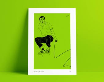 Mike Skinner Print / The Streets Poster / Grime Print / Iconic Artwork / Iconic Illustration / Music Artwork Posters / Adidas Artwork