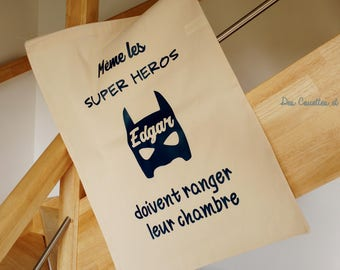 "Great bag to toys ""superhero"" customizable"