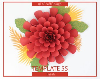 PDF Giant Paper Flower Template, Paper Flowers, Baby Shower Decor, Wedding Decor, BackDrop, Base and Instruction Including