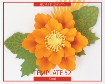 PDF Paper Flowers, Giant Paper Flower Template, Birthday Decor, Wall Paper Decor, Nursery Decor, Base/Instruction Including