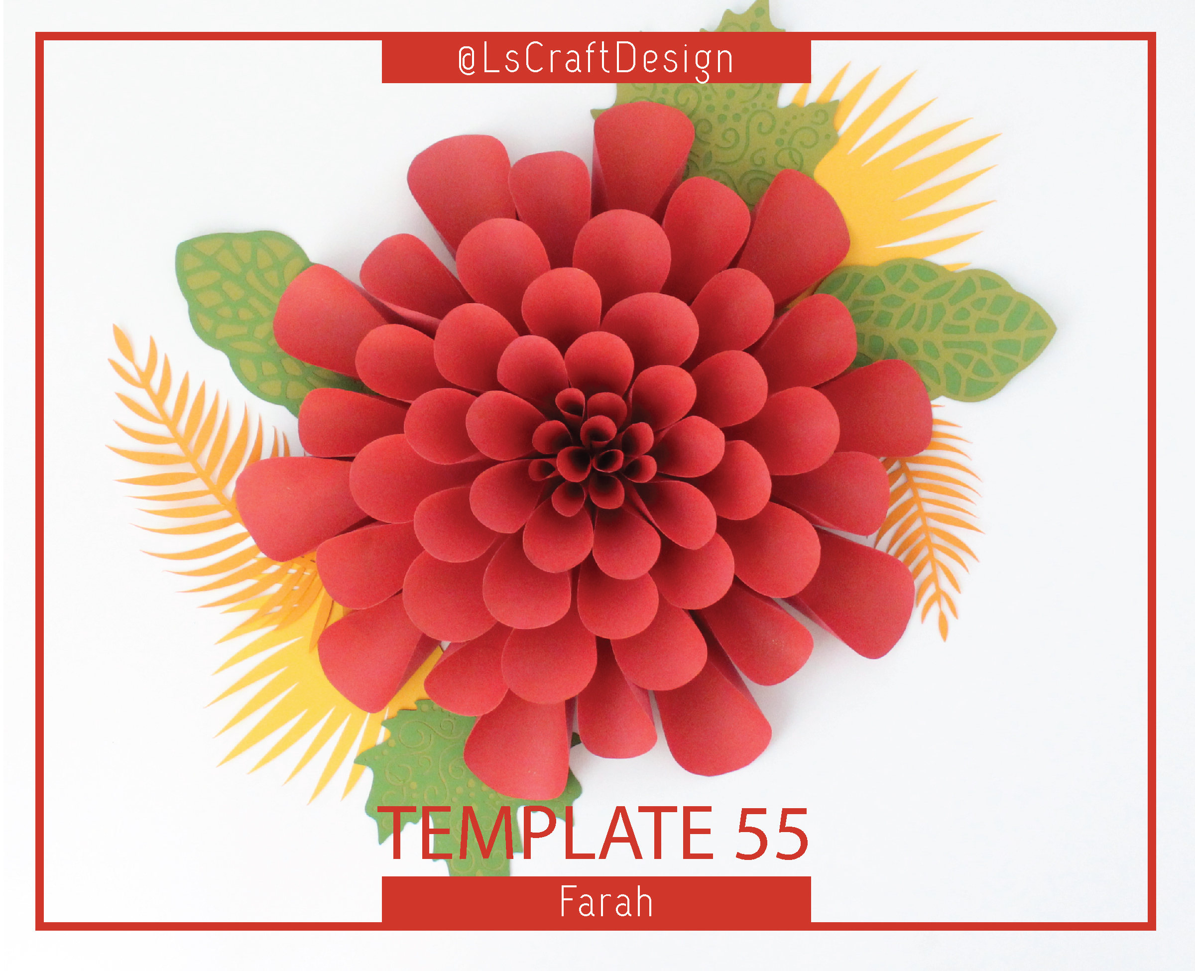 Pdf Giant Paper Flower Template Paper Flowers Baby Shower Decor