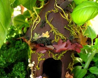 Gnome Home-Gnome House-Fairy Home-Dwarf-Gnomes-OOAK