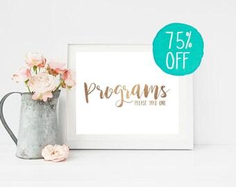 Programs Sign, Program Sign, Wedding Sign, Wedding Signs, Program Signs, Wedding, Wedding Card, Wedding Decorations, Wedding Dress, Print