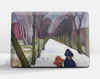 "Laptop skin (Custom size). Edvard Munch, ""New Snow in the Avenue"". Laptop cover, HP, Lenovo, Dell, Sony, Asus, Samsung etc."