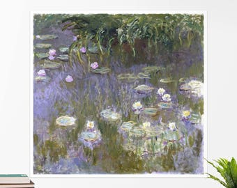 """Claude Monet, """"Water Lilies"""". Art poster, art print, rolled canvas, art canvas, wall art, wall decor"""