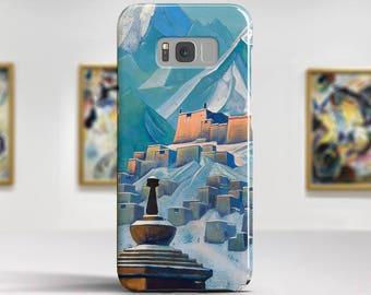 "Nicholas Roerich, ""Tibet. Himalayas"". Samsung S8 Case, Samsung S7 Case, Samsung S6 Case, Huawei, LG, Google Pixel Cases. Art phone cases."
