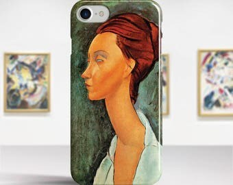 "Amedeo Modigliani, ""Portrait of Lunia Czechowska"". iPhone 6 Case Art iPhone 7 Case iPhone 8 Plus Case and more. iPhone 6 TOUGH cases."