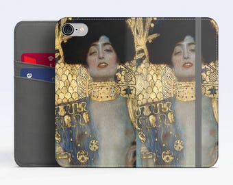 "Gustav Klimt, ""Judith"". iPhone 8 Wallet case, iPhone 7 Wallet case  iPhone 6 Plus Wallet case. Samsung Wallet cases."