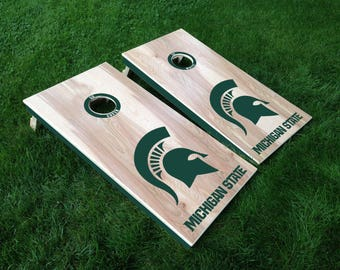 Michigan State Cornhole decals