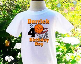 Basketball Birthday Shirt Basketball Shirt Basketball Shirt Boys Birthday Shirt Personalized Shirt Birthday Shirt-BB001