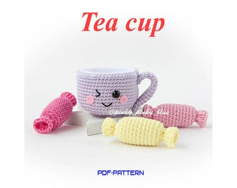 Crocheted Tea Cup PDF Pattern