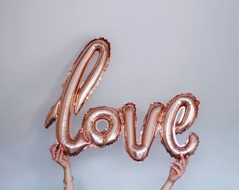 Rose gold love balloon, Wedding, Engagement, Anniversary