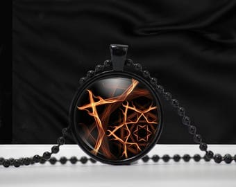 Fire Element Pendant - Fire necklace - Element jewelry