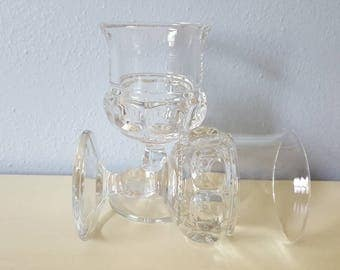 Vintage Clear Indiana Thumbprint Goblets