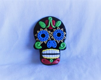 Sugar skull, Day of the Dead skull, Calavera, skull mask, Mexican folk art