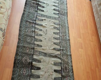 Vintage Turkish kilim runner/size:333x70cm./11x2.3 feet/Hand-woven and Free shipping worldwide !