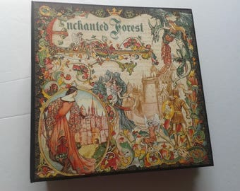 """FREE SHIPPING """"Enchanted"""" 9 X 9 Mini ALBUM-with 3 inch spine. Very interactive with foldouts,waterfalls,and pockets."""