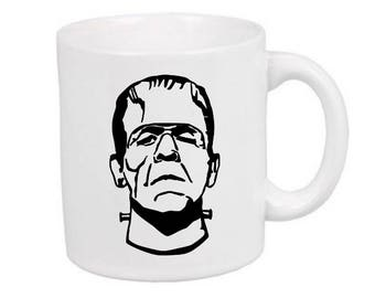 Frankenstein Monster Horror Mug Coffee Cup Gift Halloween Home Decor Kitchen Bar Gift for Her Him Merch Massacre