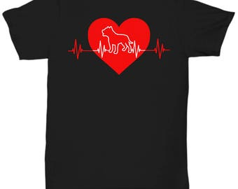 Pitbull Heartbeat Tee Shirt - Pit Bull T Shirt