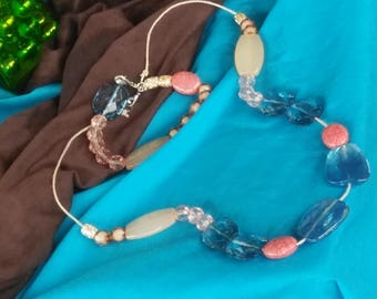 Peach and Peace Jewelry with Green and Blue