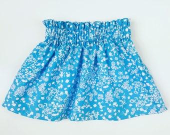 Blue Floral Skirt, Blue Skirt, Floral Skirt, Girl Skirt, Toddler Skirt, Falda para niña, Falda de bebe, Falda azul, Falda de flores