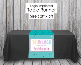 LLR Custom Unicorn Teal Print LuLa LLR Fashion Consultant Table Runner for Boutique and Popup Party - Quick Turnaround