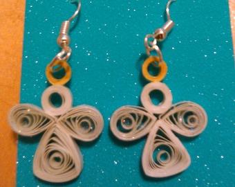 Quilled Angel Earrings