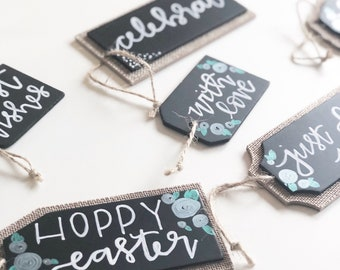 Chalkboard Hand Lettered Gift Tags