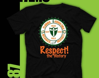 Ladies, HBCU, Florida A&M University, Rattlerette, Green, Orange, Tshirt, Rattlers,Respect the History, Gift for her, Grad Gift, Famu Pride