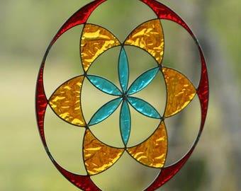 Seed of life mandala boho decoration yoga decor sacred geometry