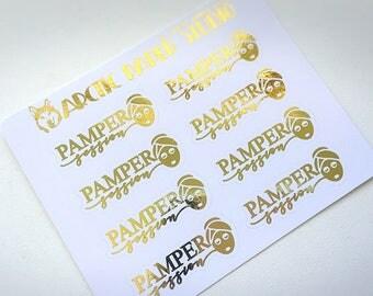 Pamper Session - FOILED Sampler Event Icons Planner Stickers