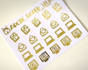 Working Icons - FOILED Sampler Event Icons Planner Stickers
