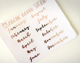 Month SCRIPT #2 - FOILED Sampler Event Icons Planner Stickers