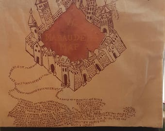 Harry Potter Marauders Map Shopping Bag Hand-Painted