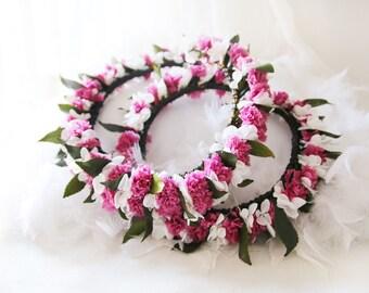 Couronne Tahitienne (petit modèle) vraies fleurs stabilisées